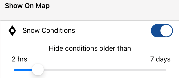 Conditions toggle
