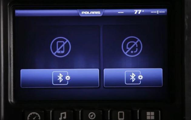 Bluetooth pairing screen