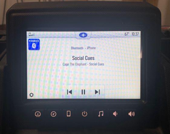 Bluetooth audio screen