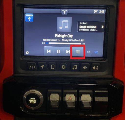 USB audio More menu