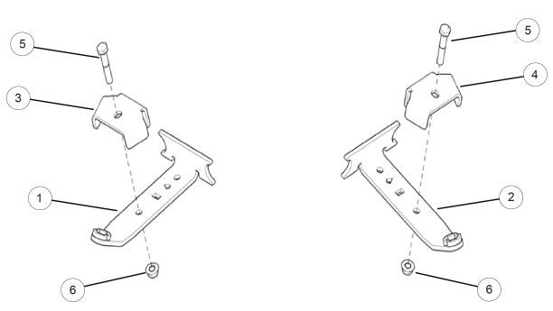 Front anchor bracket kit