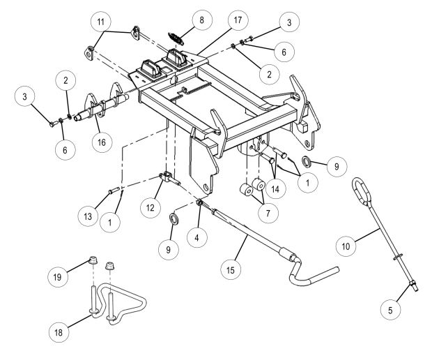 Glacier Integrated Plow Mount drawing