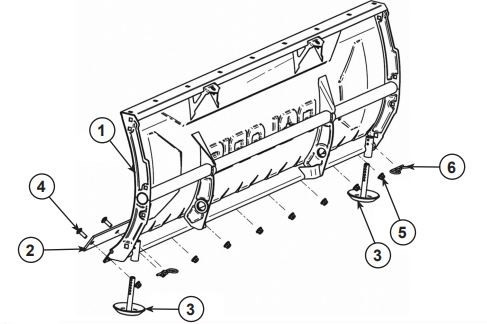 Glacier Plow Blade 60 Steel drawing