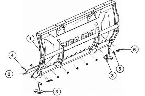 Glacier Plow Blade 60 Steel drawing