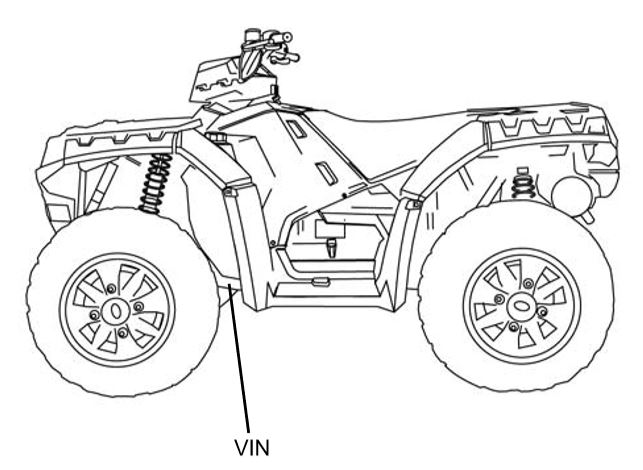 Locating Your ATV's VIN | Polaris Sportsman