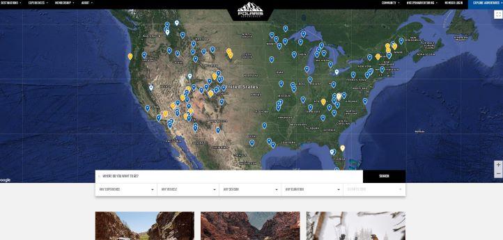 Adventures map