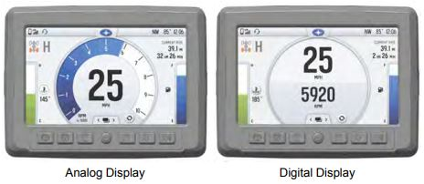 Analog and digital displays