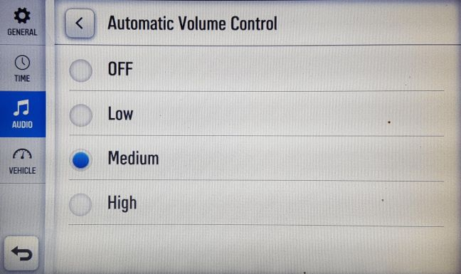 Automatic volume control