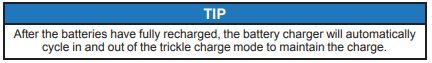 Battery charging tip