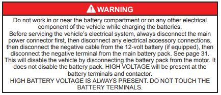 Battery handling warning