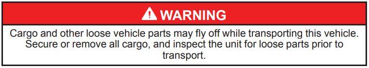 Cargo Warning