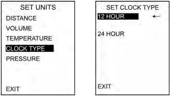 Clock type