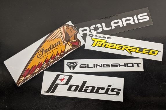 Polaris and Indian Motorcycle Stickers