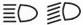 High beam/low beam indicator