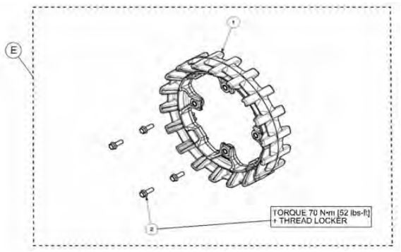 18-tooth sprocket drawing