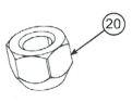 Wheel lug nut drawing
