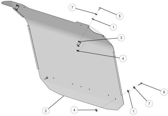 Aluminum roof drawing