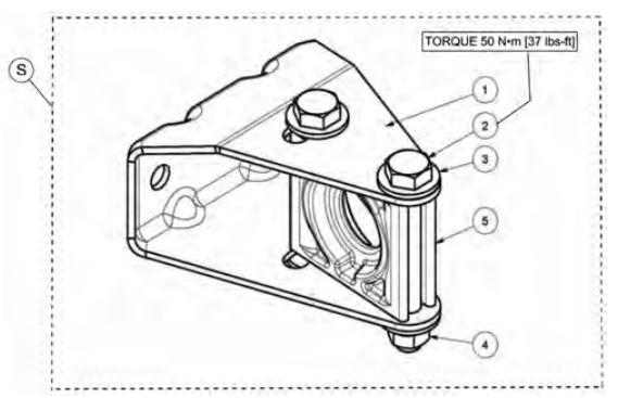 Anti rotation bracket kit drawing