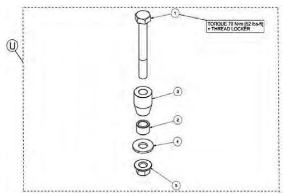 Anti rotation long bolt kit drawing