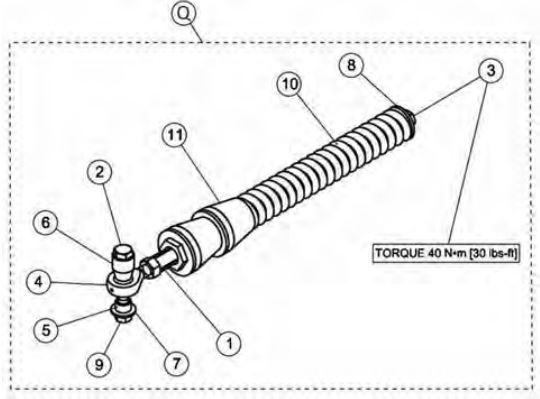 Anti rotation rear arm kit drawing