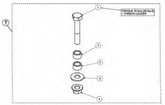 Anti rotation short bolt kit drawing