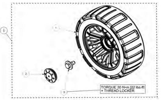 Idler wheel kit drawing