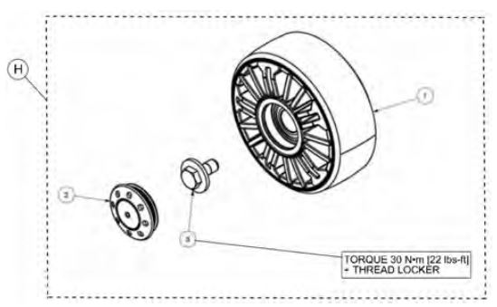 Mid wheel kit drawing