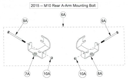 Rear anchor bracket drawing