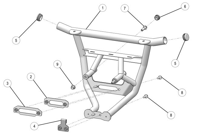 Low profile front bumper drawing