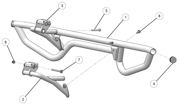 Sport rear bumper drawing