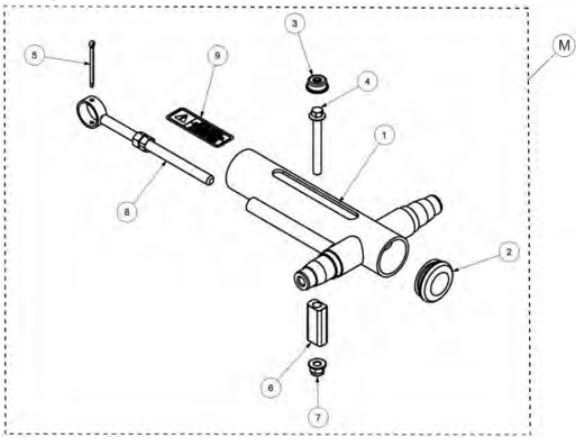 Track adjuster kit drawing