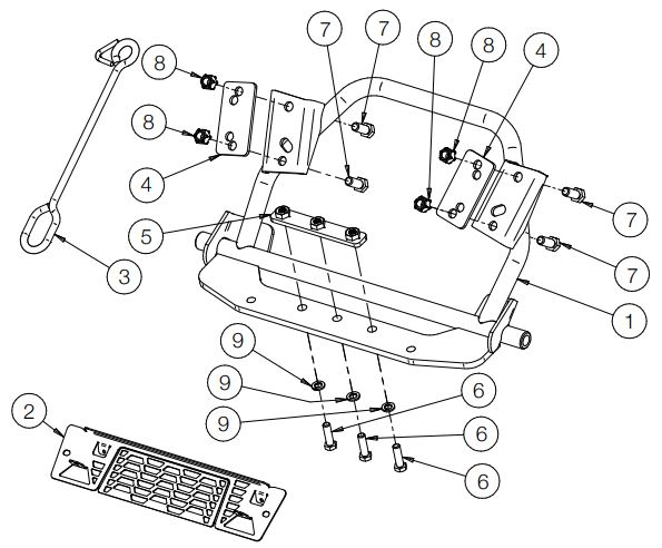 Glacier H D Plow Mount drawing