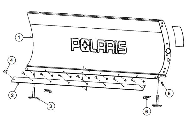 Glacier Pro H D Plow Blade drawing