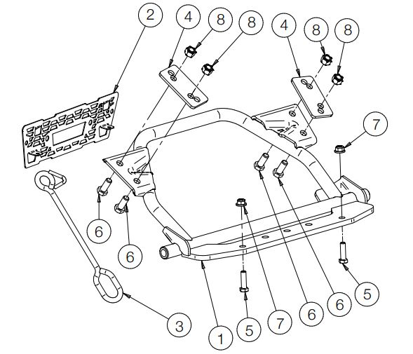 Glacier Pro H D Plow Mount drawing