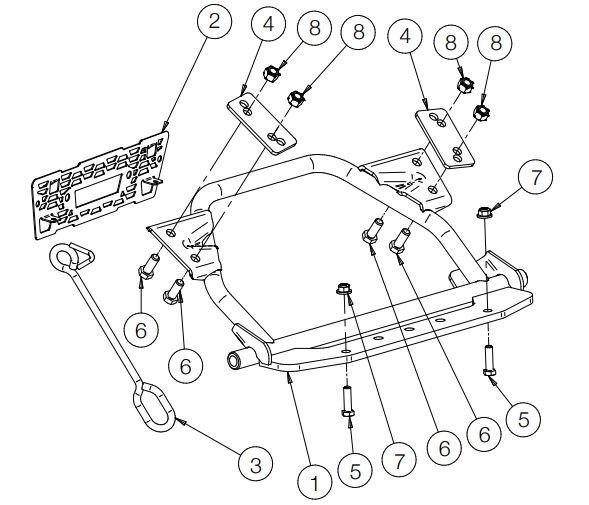 Glacier Pro H D Plow Mount drawing