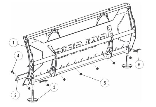 Glacier Pro Plow Blade 52 Steel drawing