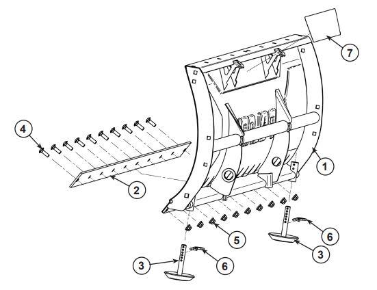 Glacier Pro Plow Steel Blade drawing