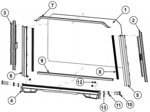 Glass windshield drawing