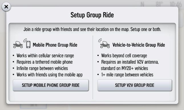 Setup Group Ride