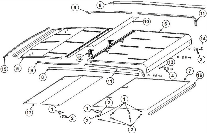 Steel roof drawing