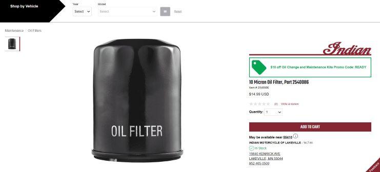 IMC oil filter