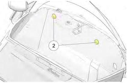 Fastener bolts location