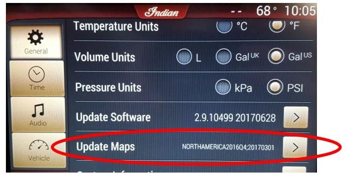 Map update