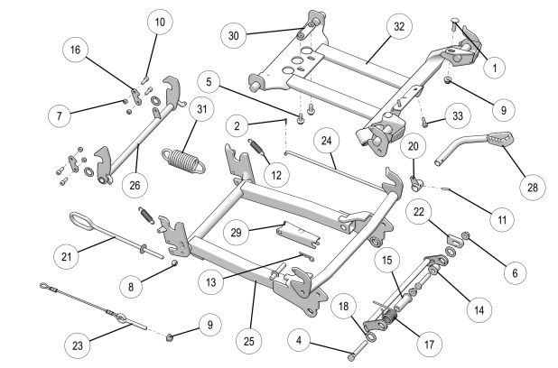 Integrated Plow Mount Frame Attachment drawing