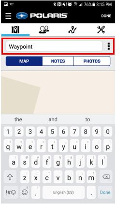 Name Waypoint