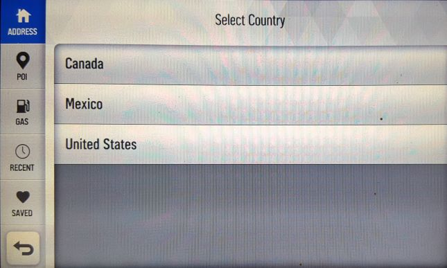 Select country