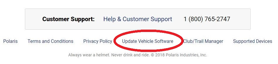 Software update link