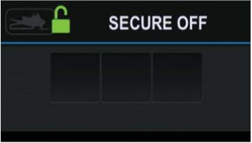 Secure off screen