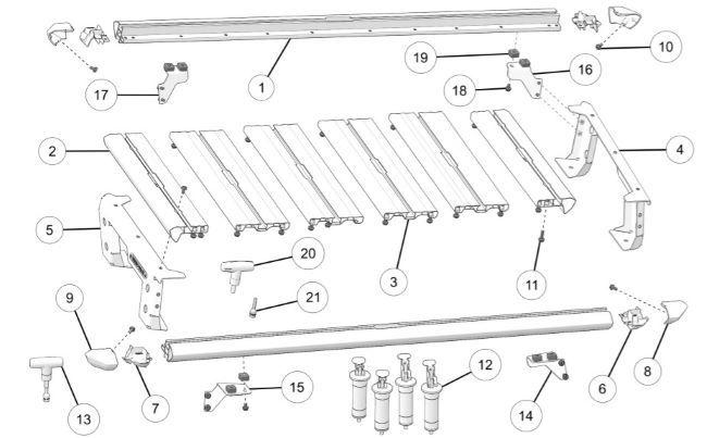 platform rack kit contents