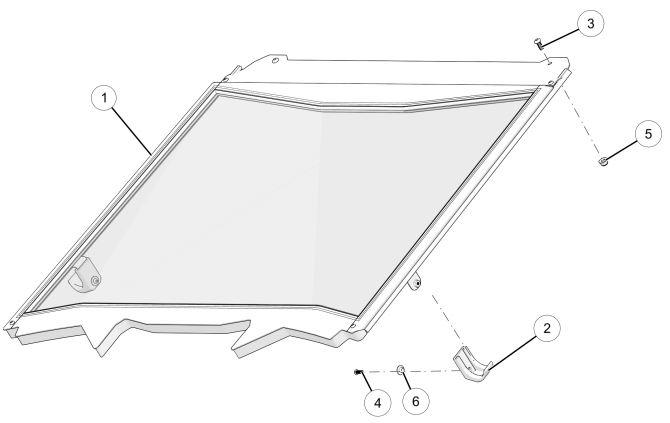 Glass full windshield diagram